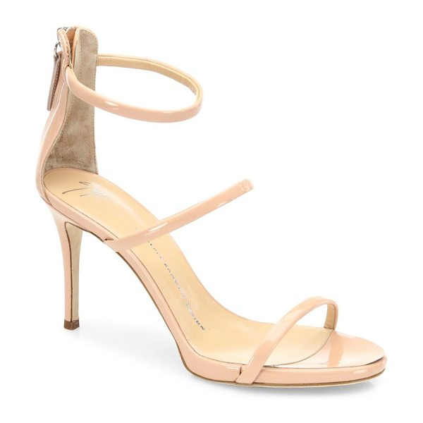 Giuseppe Zanotti harmony patent leather sandals in blush - Polished patent leather sandals with feminine appeal....