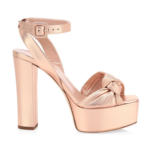Giuseppe Zanotti lavinia metallic leather platform sandals in pink
