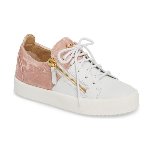 GIUSEPPE ZANOTTI mid top platform sneaker - Exposed, angled zippers and technicolor snake-embossed...