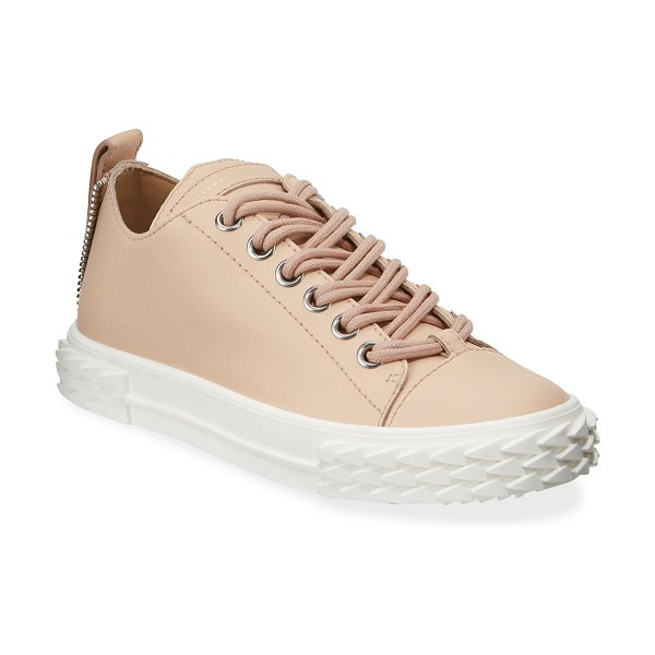 Giuseppe Zanotti Moxie Leather Low-Top Sneakers in pink