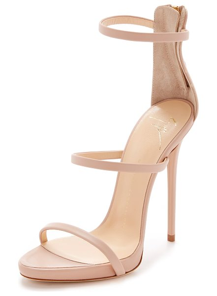 Giuseppe Zanotti Strappy sandals in nude - Slim leather straps compose these refined Giuseppe...
