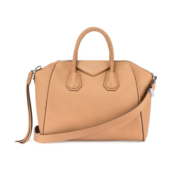 "GIVENCHY Antigona Medium Braided Satchel Bag - Givenchy bag in ""Sugar"" grained goatskin with braided..."