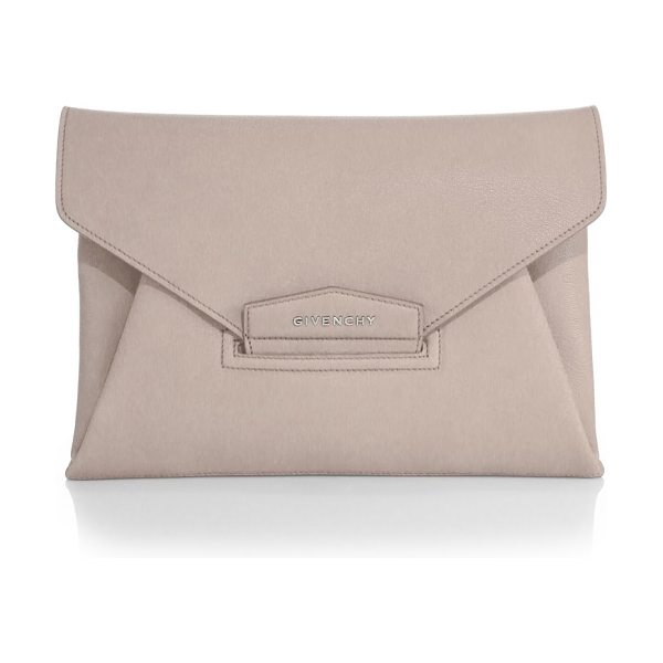 Givenchy antigona medium clutch in mastic - A classic staple for day or night, this versatile clutch...