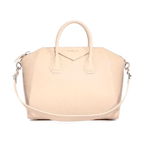 Givenchy Antigona medium leather satchel in beigebuff - Sophisticated satchel crafted of sugar leather, which...