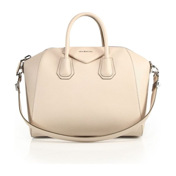 Givenchy Antigona medium leather satchel in nudepink - Sophisticated satchel crafted of sugar leather, which...