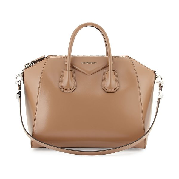 "GIVENCHY Antigona medium box calf satchel bag - Givenchy ""Antigona"" satchel bag in ""Sugar"" calfskin with..."