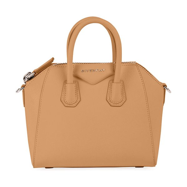 "Givenchy Antigona Mini Leather Satchel Bag in light beige - Givenchy ""Sugar"" grained goatskin bag with shiny..."