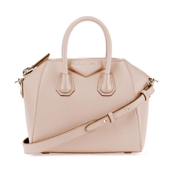 Givenchy Antigona Mini Sugar Satchel Bag in nude pink - Givenchy grained goatskin satchel with shiny palladium...