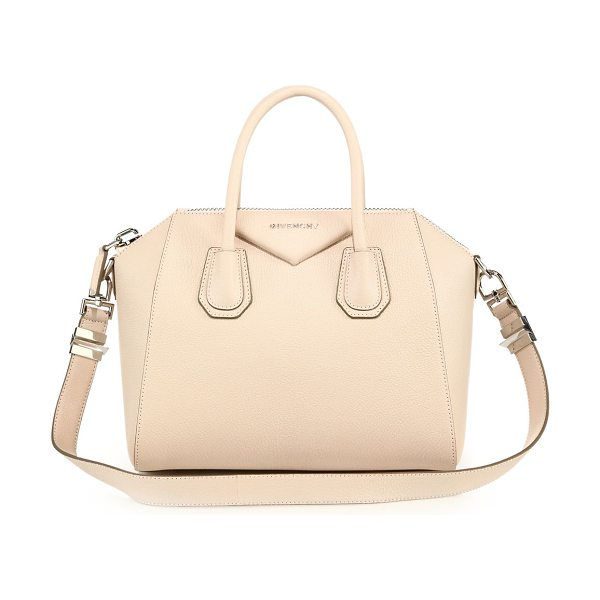 Givenchy Antigona small leather satchel in beigebuff - Sophisticated satchel crafted of sugar leather, which...