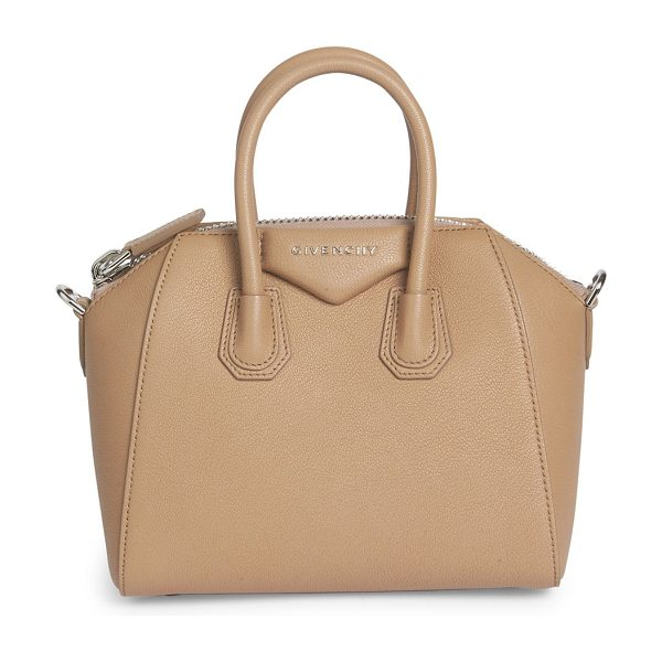 Givenchy antigona small leather satchel in lightbeige - Petite, iconic crossbody in rich, buttery leather....