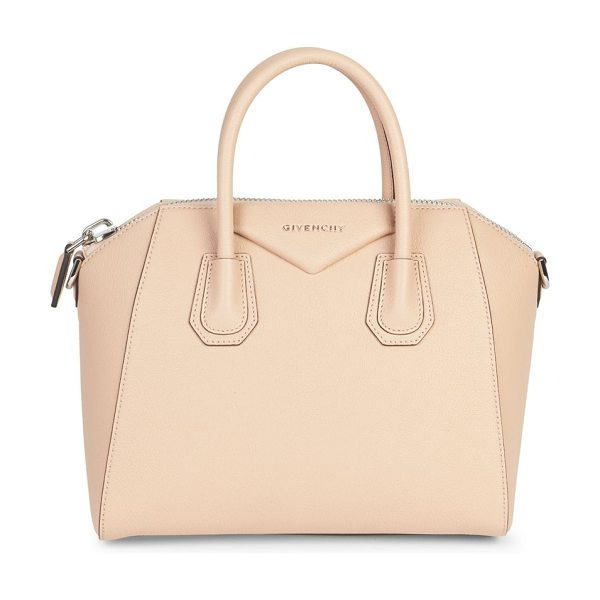 Givenchy antigona small leather satchel in powder - Petite, iconic crossbody in rich, buttery leather....