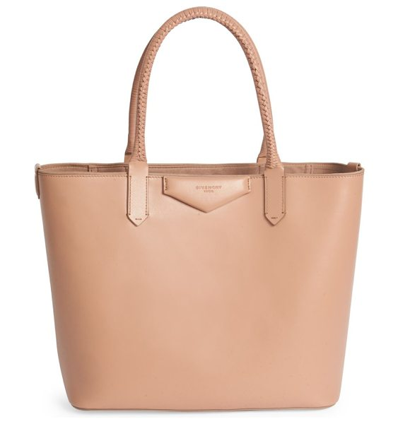 Givenchy Antigona small leather tote in oldpink - Braided handles finish petite tote bag in rich calf...