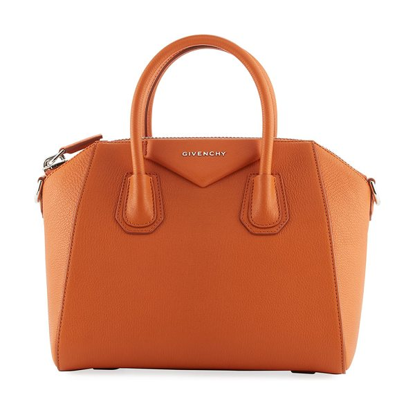 GIVENCHY Antigona Small Sugar Satchel Bag - Givenchy grained goatskin satchel bag with shiny...