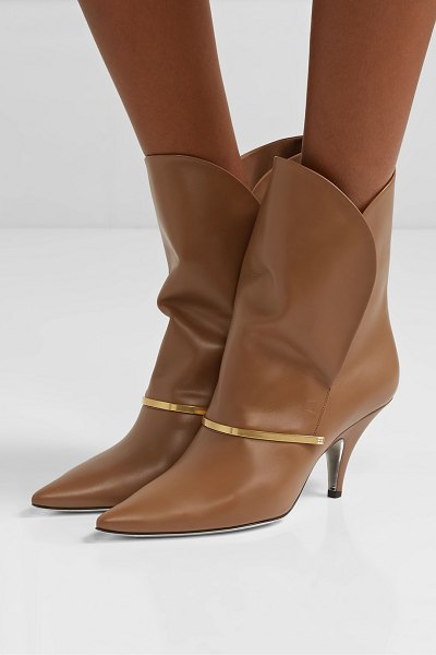 Givenchy bar leather ankle boots in tan