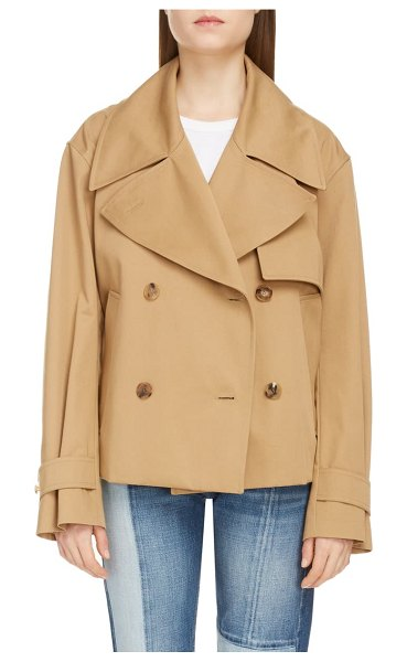 Givenchy belted crop trench in beige