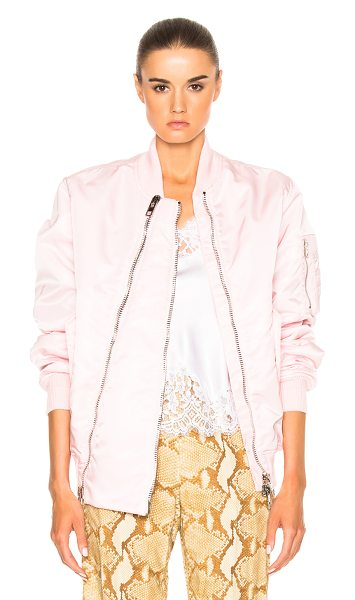 Givenchy Bomber Jacket in pink - Self: 100% polyamideLining: 100% cuproRib: 95% cotton 4%...