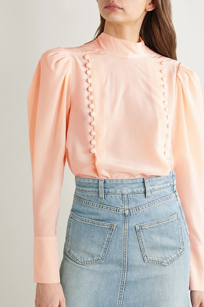 Givenchy button-detailed silk-georgette blouse in blush