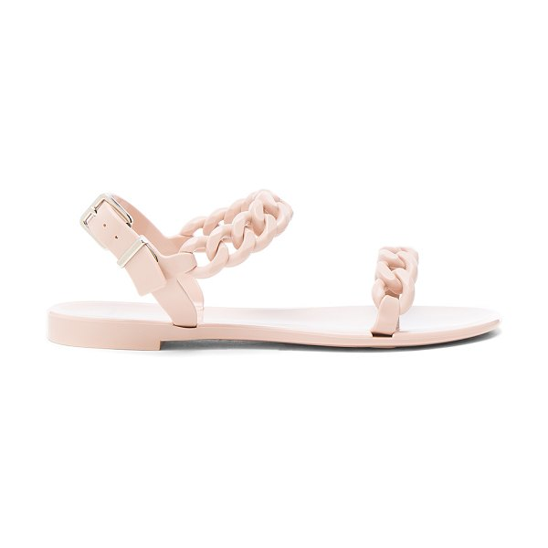 Givenchy Chain Link Jelly Sandals in neutrals - Rubber upper and sole.  Made in Italy.  Approx 10mm/ 0.5...