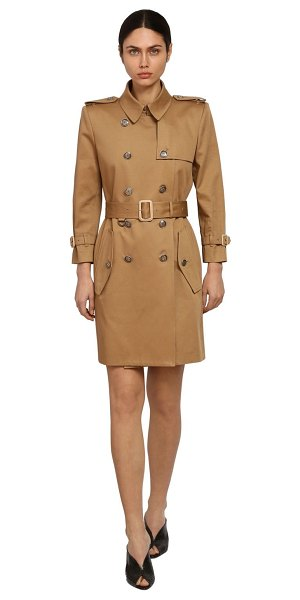 Givenchy Cotton gabardine trench coat in camel