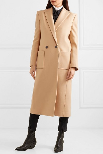 Givenchy double-breasted wool-felt coat in camel - Every well-curated wardrobe should include a camel coat,...