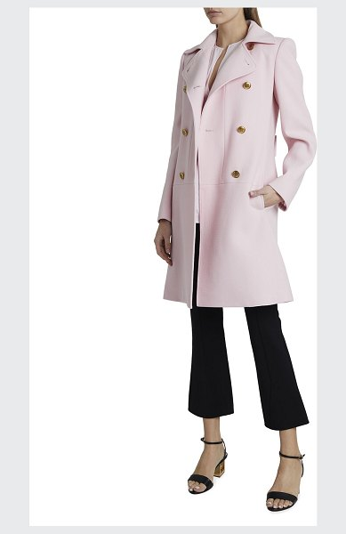Givenchy Double-Breasted Wool Martingale Coat in light pink