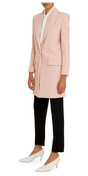 Givenchy Double Crepe Tailored Midi Coat in blush
