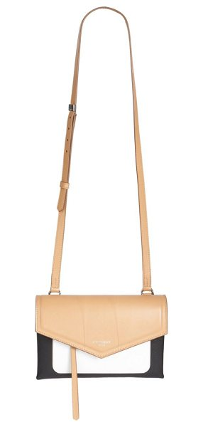 Givenchy duetto tri-tone leather crossbody bag in beigeblack - Smooth colorblock leather crossbody with envelope flap....