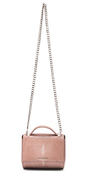 GIVENCHY Galuchat Pandora Box in old pink - Polished shagreen and smooth leather feature leather...