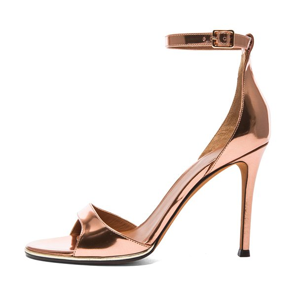 Givenchy Giuliana leather heels in metallics - Calfskin metallic leather upper with leather sole.  Made...