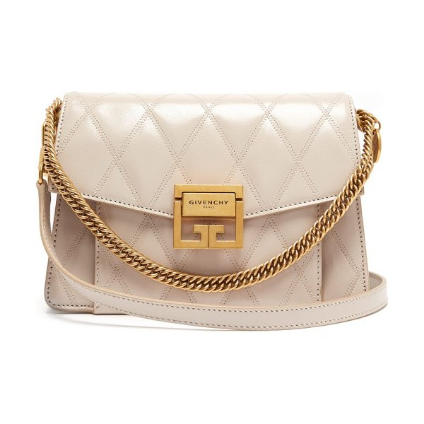 Givenchy gv3 small quilted leather cross body bag in cream - Givenchy - The GV3 - named after the location of the...