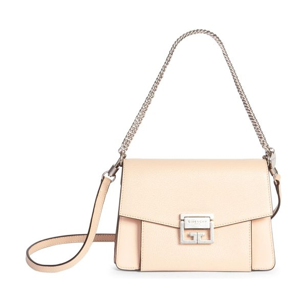 Givenchy gv3 small shoulder bag in powder - Intricate chain strap adorns sleek, petite crossbody....