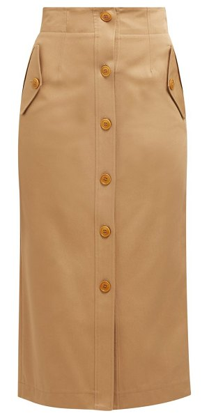 Givenchy high rise cotton gabardine skirt in beige