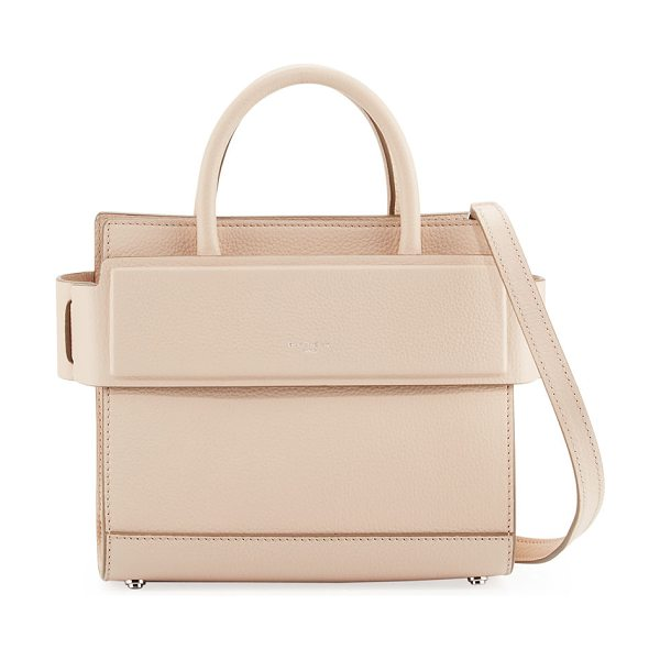 GIVENCHY Horizon Mini Grained Leather Tote Bag - Givenchy smooth leather tote bag. Polished silvertone...