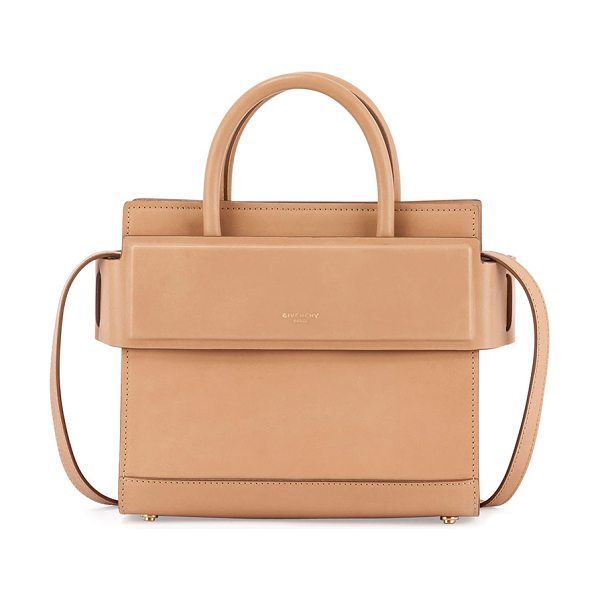 Givenchy Horizon Mini Leather Satchel Bag in beige - Givenchy smooth calf  leather satchel bag. 6c0d4c3c516c9