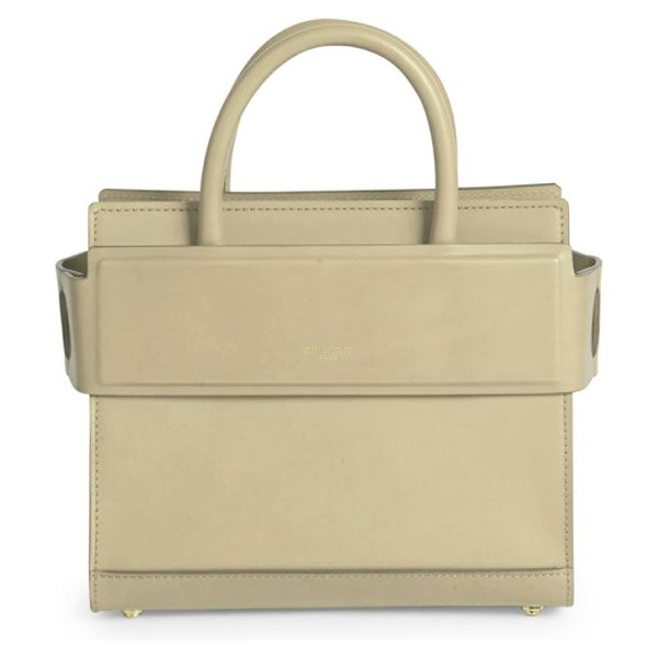 Givenchy horizon mini smooth leather tote in skin - Structured leather silhouette with banded top panel....