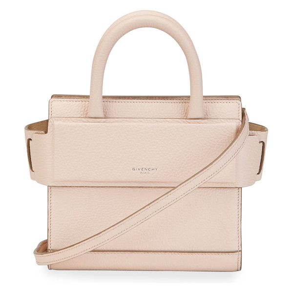 Givenchy Horizon Nano Grained Leather Satchel Bag in nude pink
