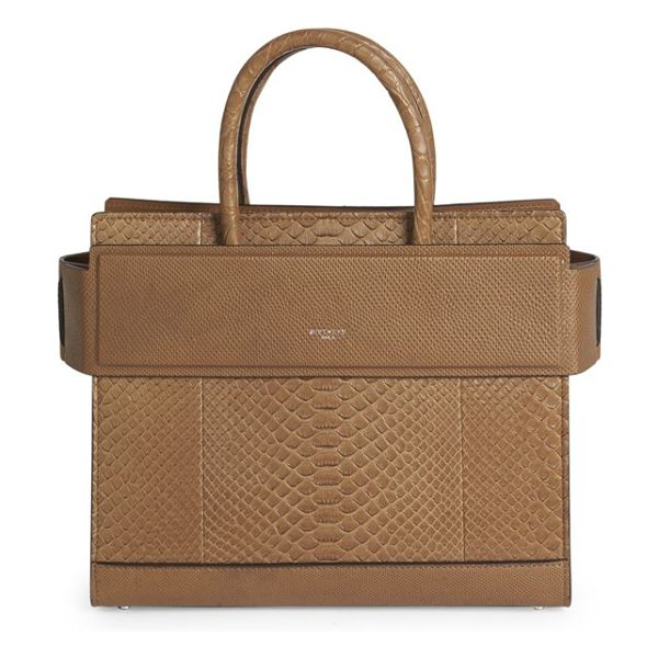 Givenchy horizon small leather tote in cappuccino