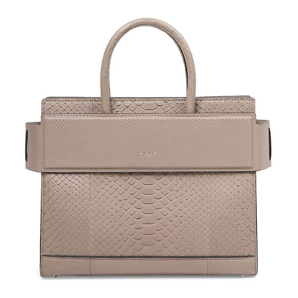 GIVENCHY horizon small python satchel - Structured python silhouette with banded top panel....
