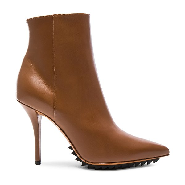 Givenchy Iron Ankle Leather Booties in brown - Leather upper and sole.  Made in Italy.  Shaft measures...