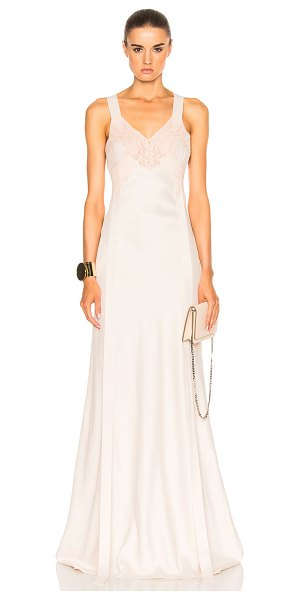 Givenchy Lace Silk Gown in neutrals,pink - Givenchy's  lace silk bridal gown encapsulates timeless...