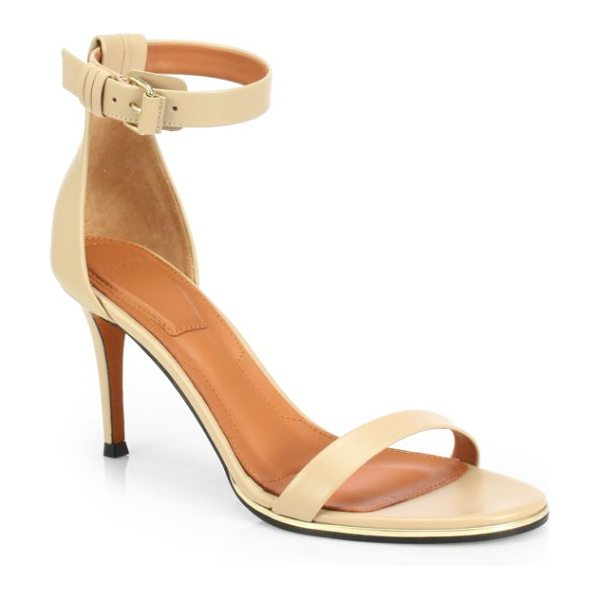 Givenchy Leather ankle-strap sandals in camel