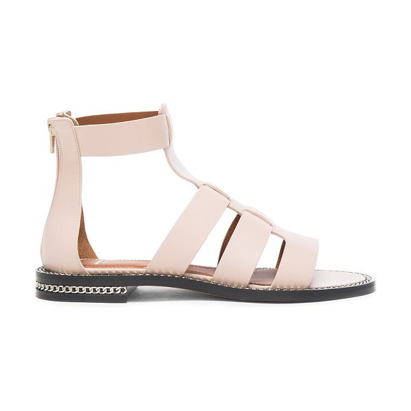 Givenchy Leather Gladiator Sandals in nude - Leather upper and sole. Made in Italy. Approx 13mm/ 0.75...