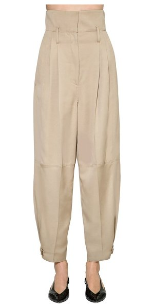 Givenchy Light viscose canvas cargo pants in beige