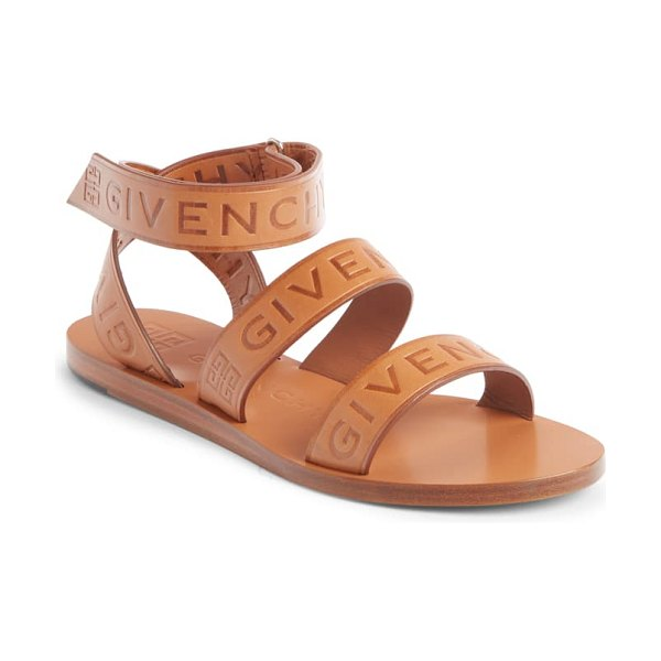 Givenchy logo ankle strap sandal in brown