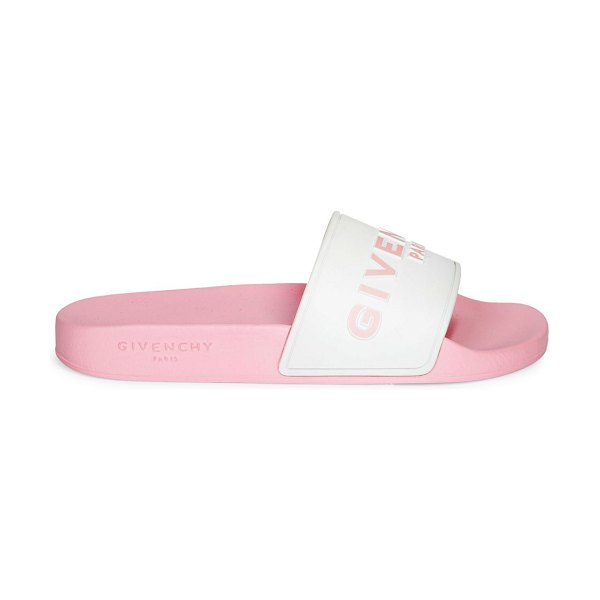 Givenchy logo pool slides in candy pink