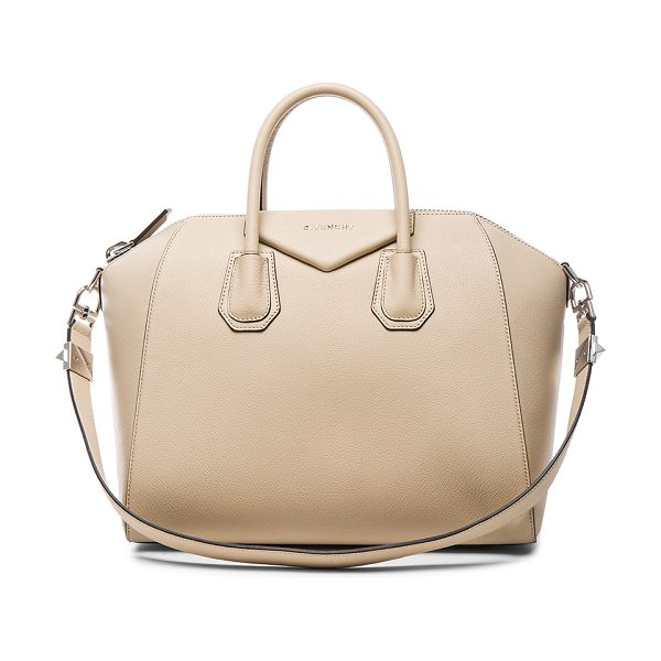 Givenchy Medium antigona in neutrals - Goatskin leather with canvas fabric lining and...