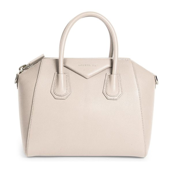 Givenchy antigona medium leather satchel in nudepink - An iconic silhouette crafted in luxe grained leather....