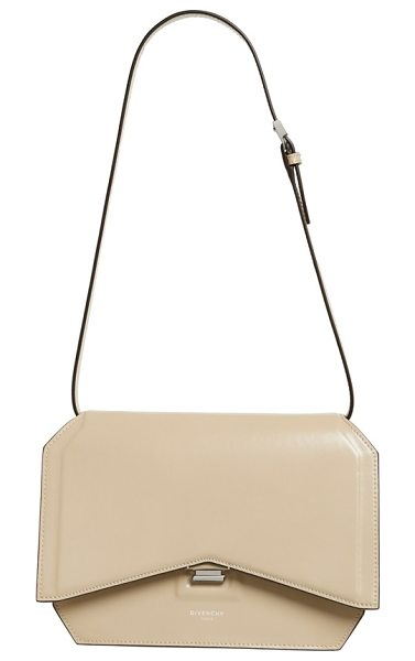 Givenchy Medium bow cut leather shoulder bag in beige buff