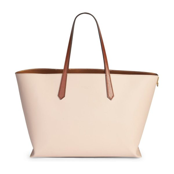Givenchy medium gv3 shopping tote in powder - Straightforward leather tote with roomy interior. Dual...