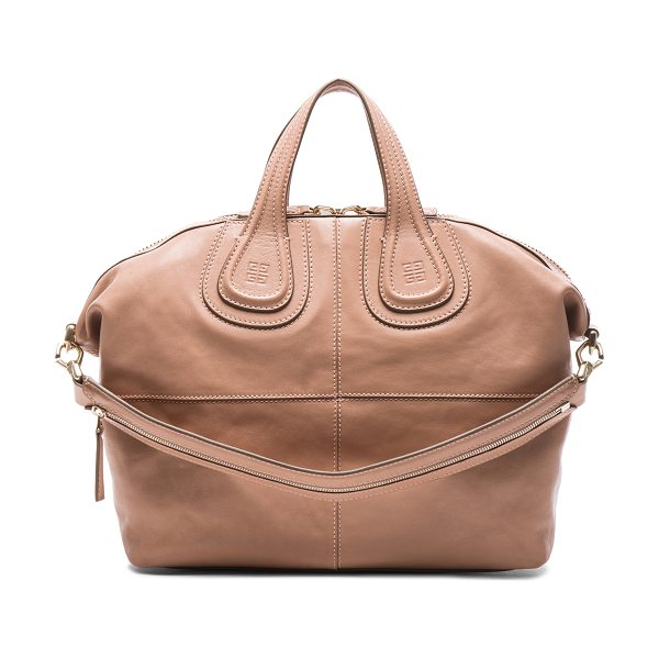 GIVENCHY Medium nightingale - Lambskin leather with canvas lining and gold-tone...